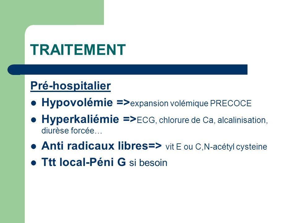 TRAITEMENT Pré-hospitalier
