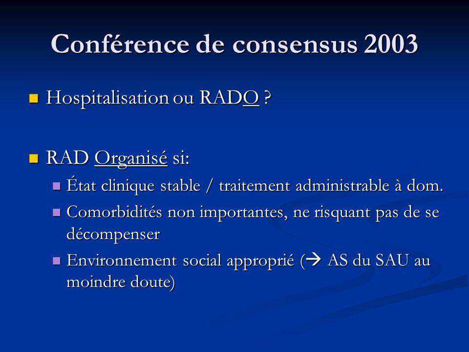 Conférence de consensus 2003