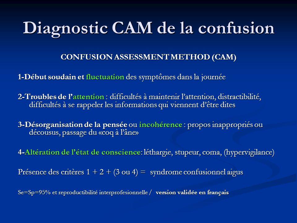 Diagnostic CAM de la confusion