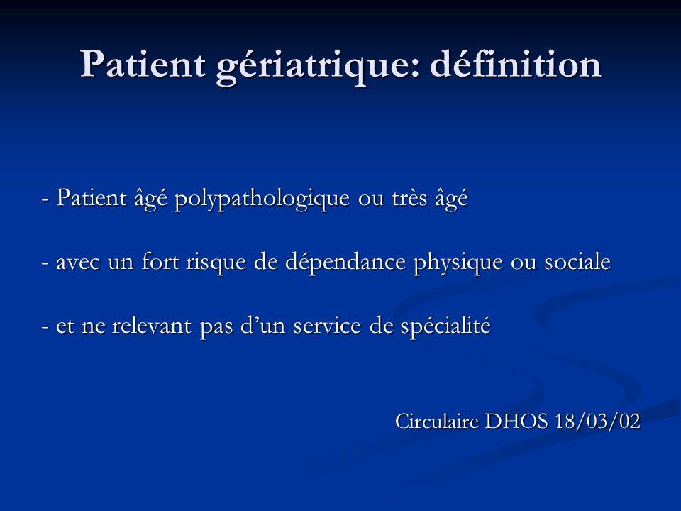 Patient gériatrique: définition