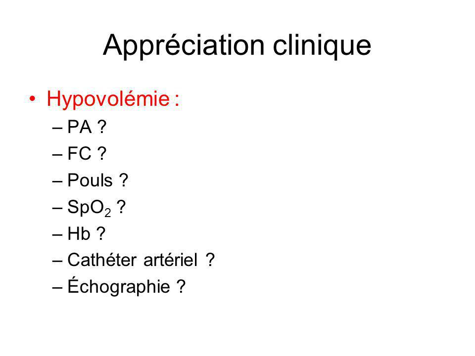 Appréciation clinique