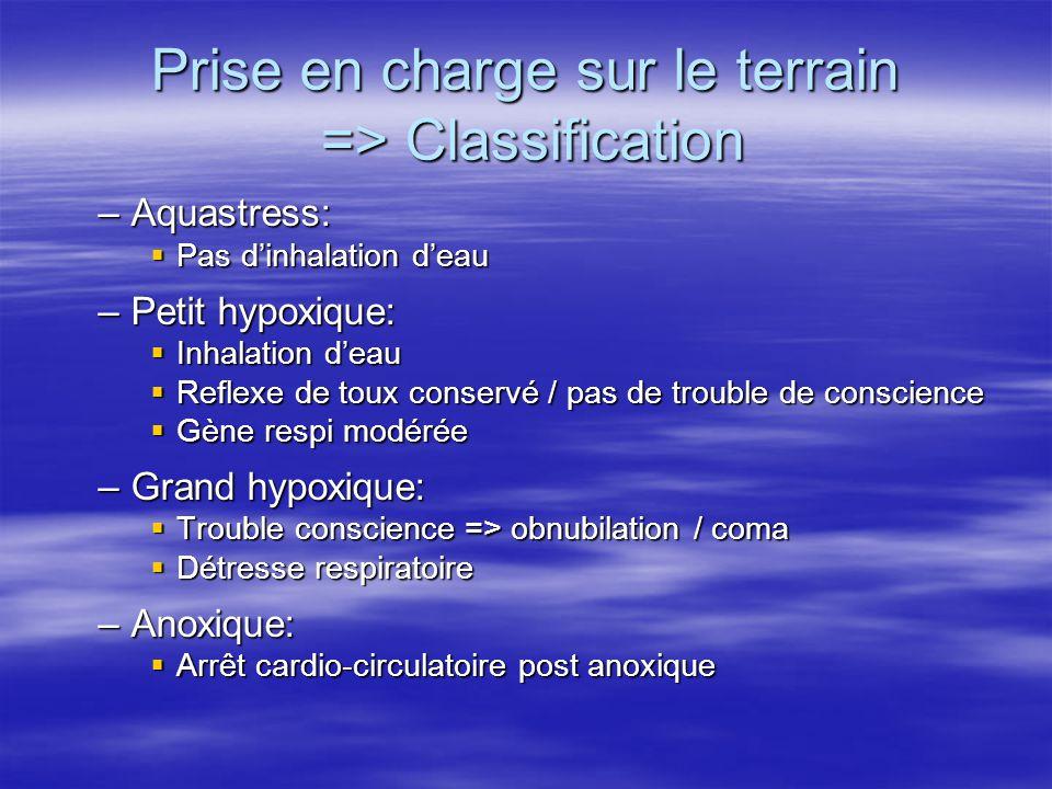 Prise en charge sur le terrain => Classification