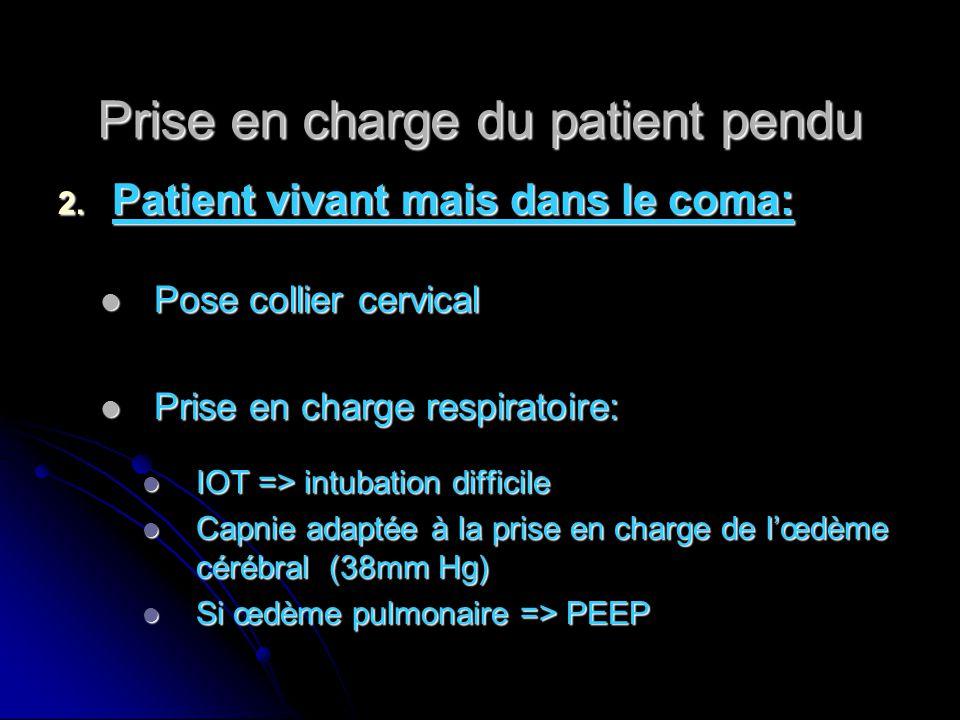 Prise en charge du patient pendu