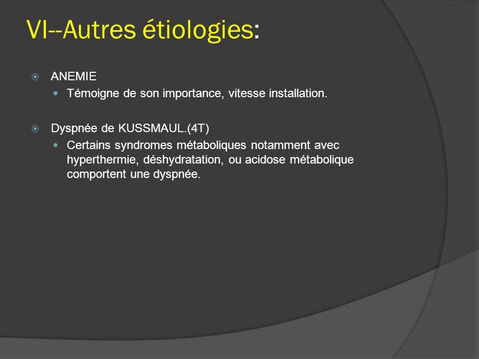 VI--Autres étiologies: