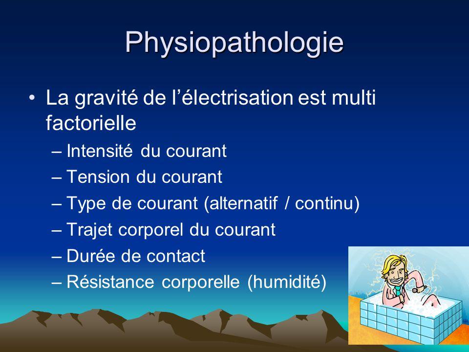 Physiopathologie La gravité de l'électrisation est multi factorielle