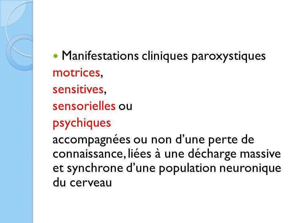 Manifestations cliniques paroxystiques