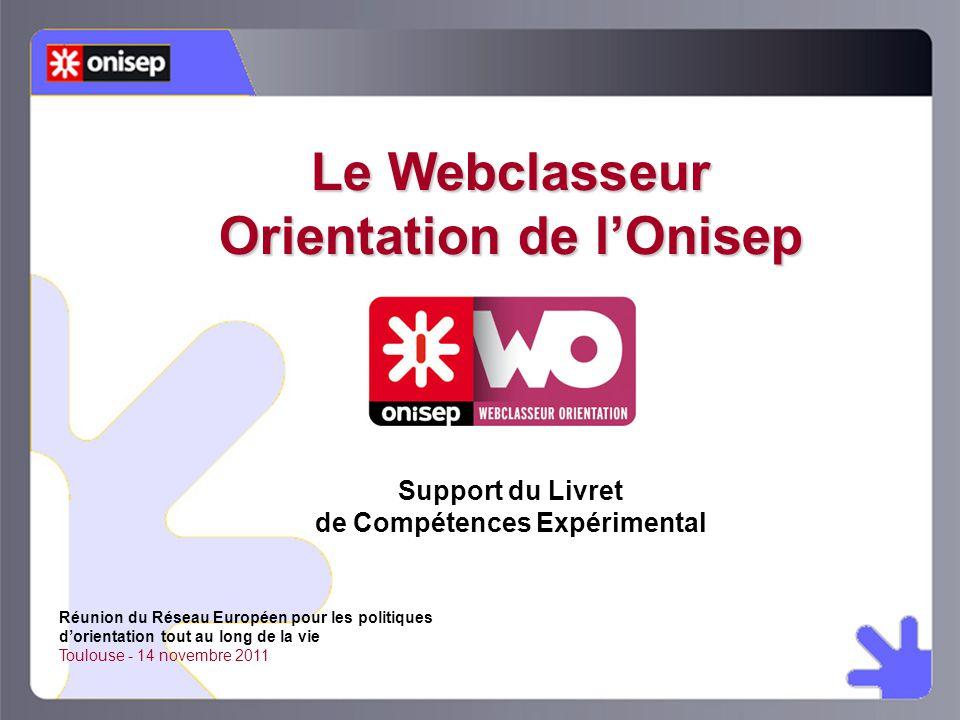 Le Webclasseur Orientation de l'Onisep