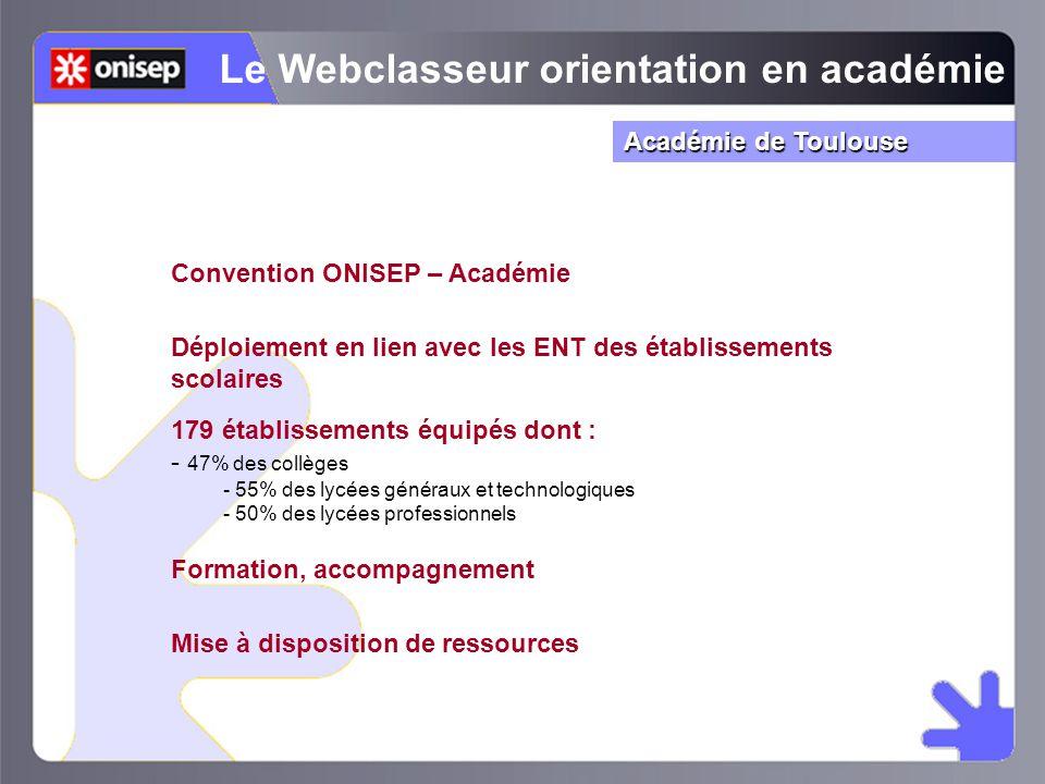 Le Webclasseur orientation en académie