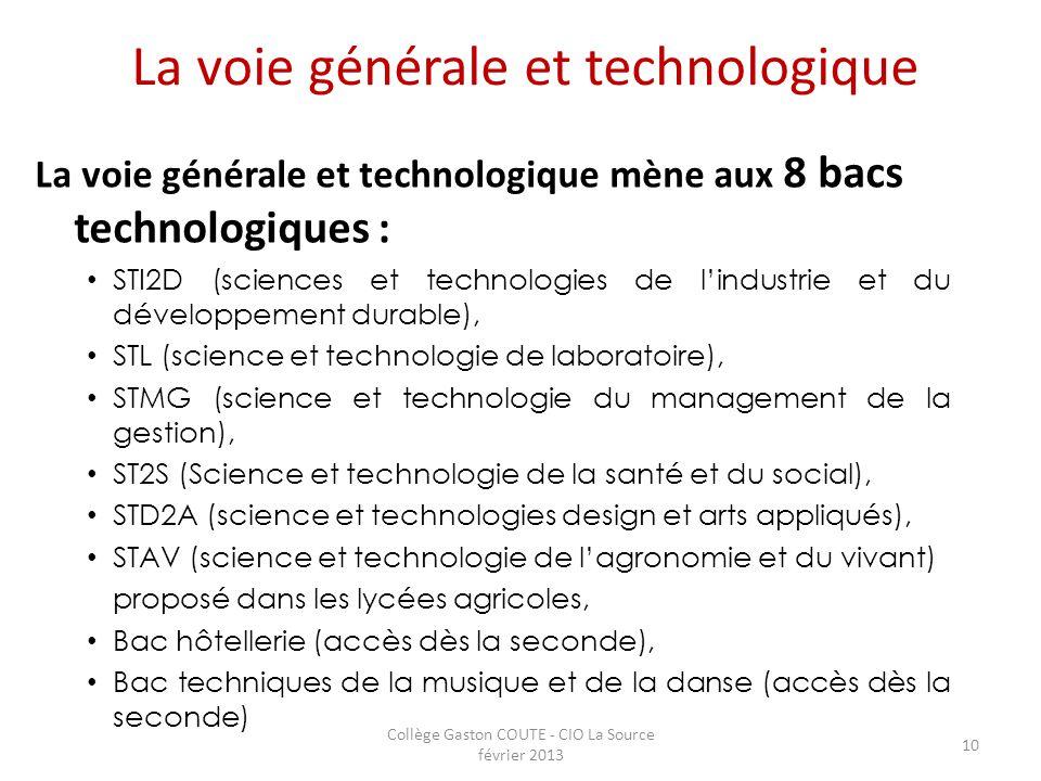 La voie générale et technologique