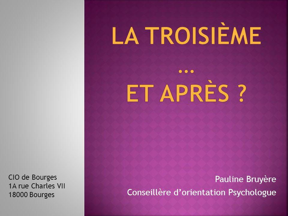 Pauline Bruyère Conseillère d'orientation Psychologue