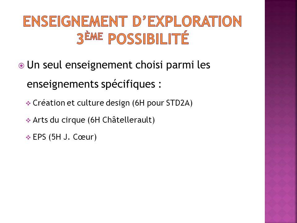 Enseignement D'exploration 3ème possibilité