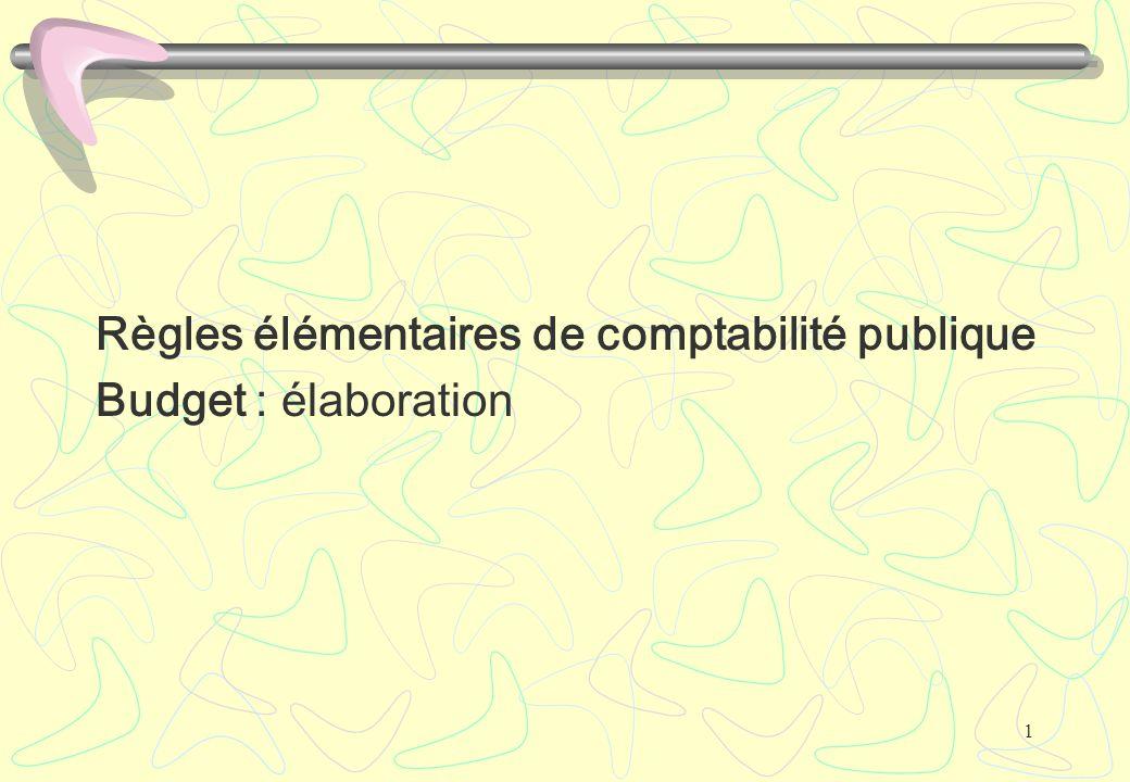 Règles élémentaires de comptabilité publique