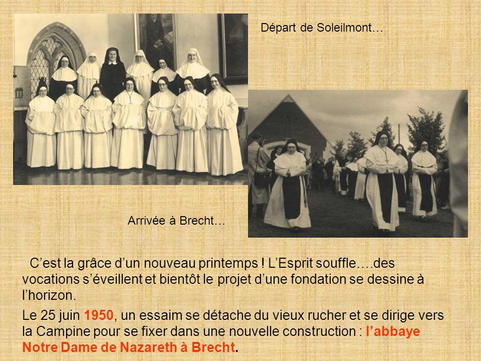 Départ de Soleilmont… Arrivée à Brecht…