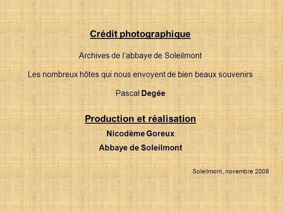 Crédit photographique Production et réalisation