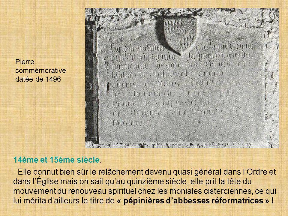 Pierre commémorative datée de 1496