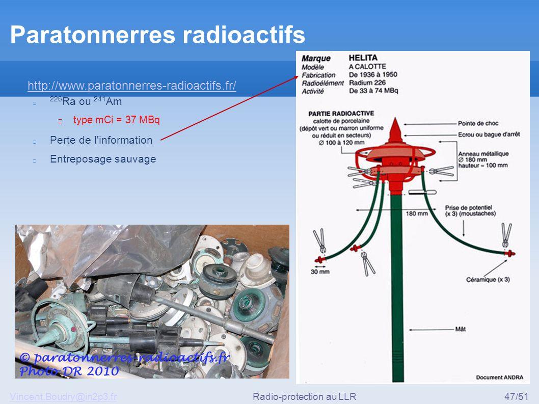 Paratonnerres radioactifs