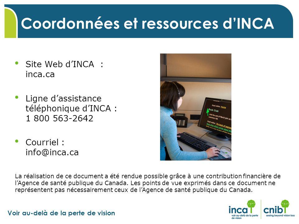 Coordonnées et ressources d'INCA