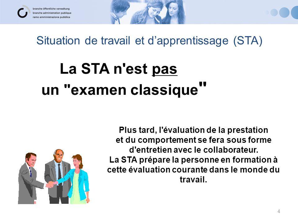 Situation de travail et d'apprentissage (STA)