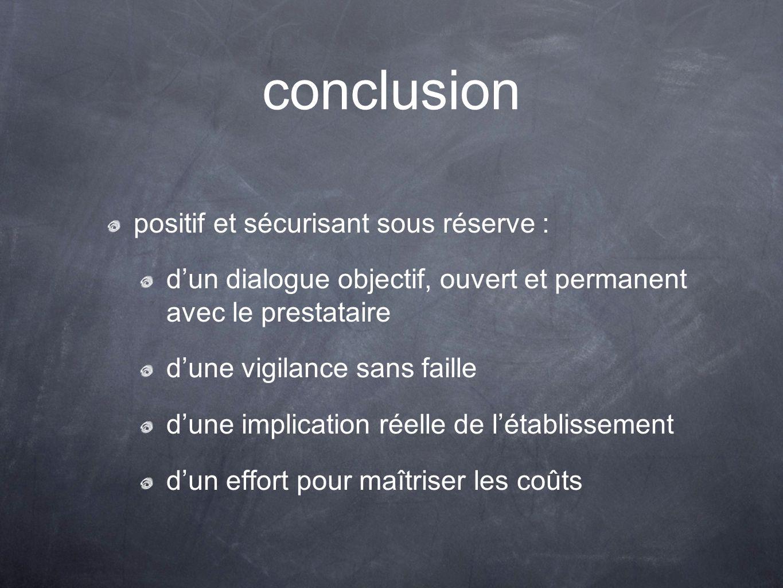 conclusion positif et sécurisant sous réserve :