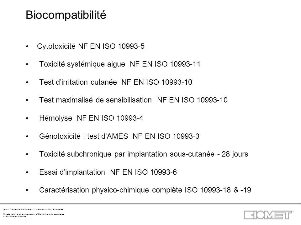 Biocompatibilité Cytotoxicité NF EN ISO 10993-5