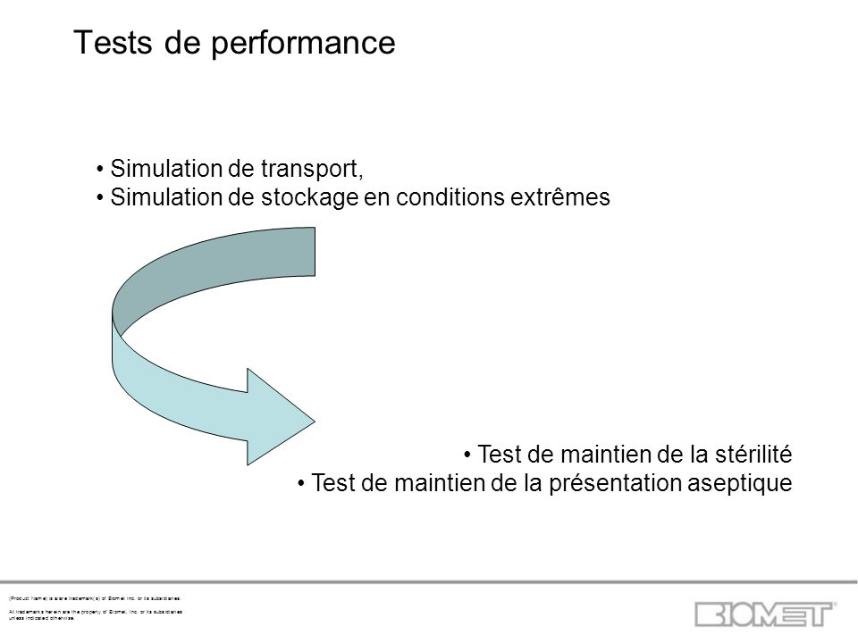 Tests de performance Simulation de transport,