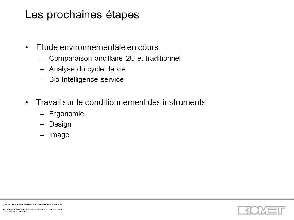 Les prochaines étapes Etude environnementale en cours