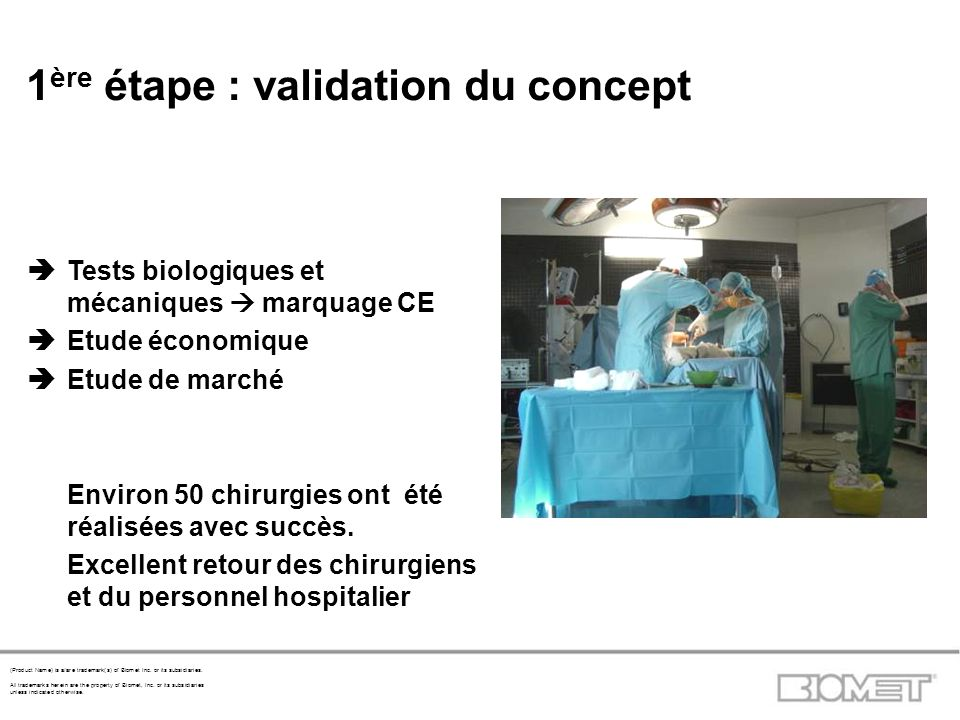 1ère étape : validation du concept