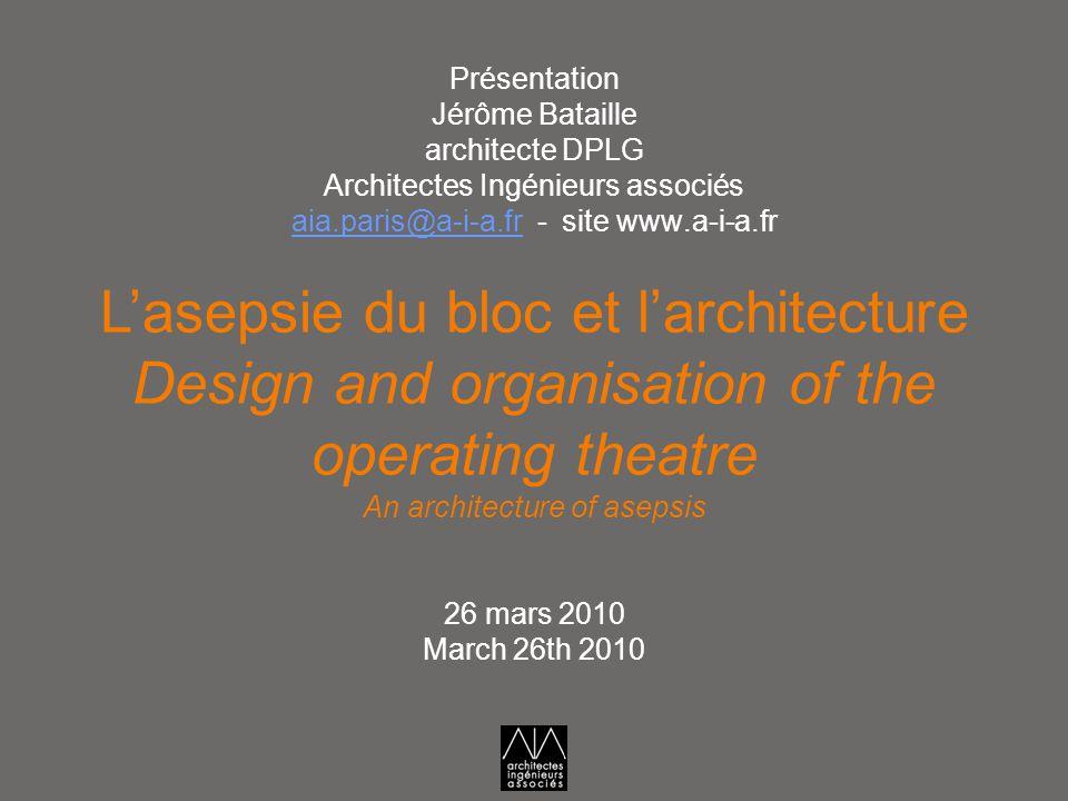 L'asepsie du bloc et l'architecture
