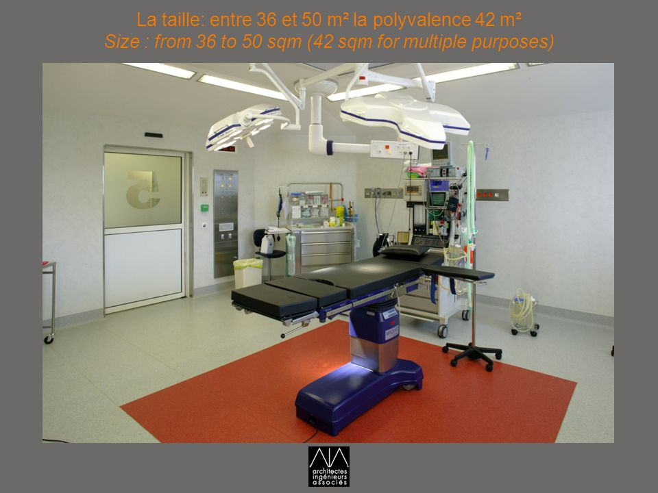 La taille: entre 36 et 50 m² la polyvalence 42 m² Size : from 36 to 50 sqm (42 sqm for multiple purposes)