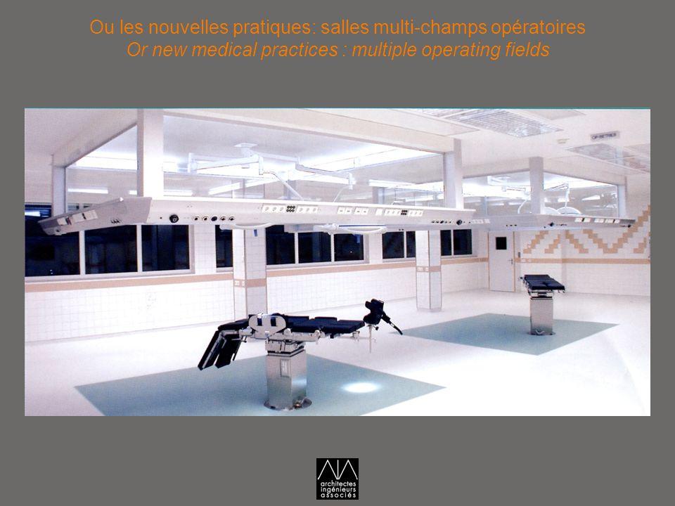 Ou les nouvelles pratiques: salles multi-champs opératoires Or new medical practices : multiple operating fields