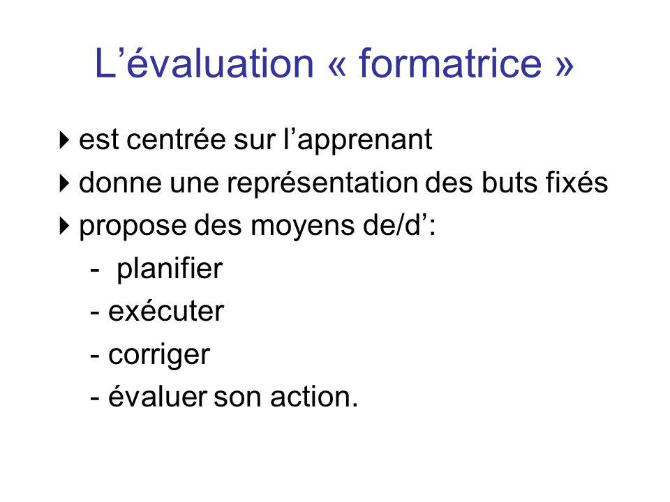 L'évaluation « formatrice »