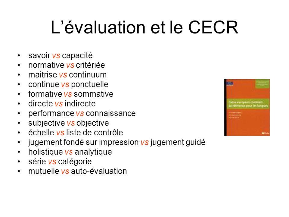 L'évaluation et le CECR