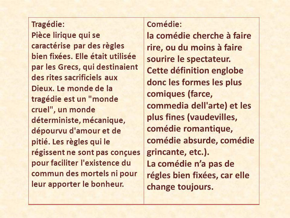 Trag die et com die deux univers parall les ppt video for Definition de la farce