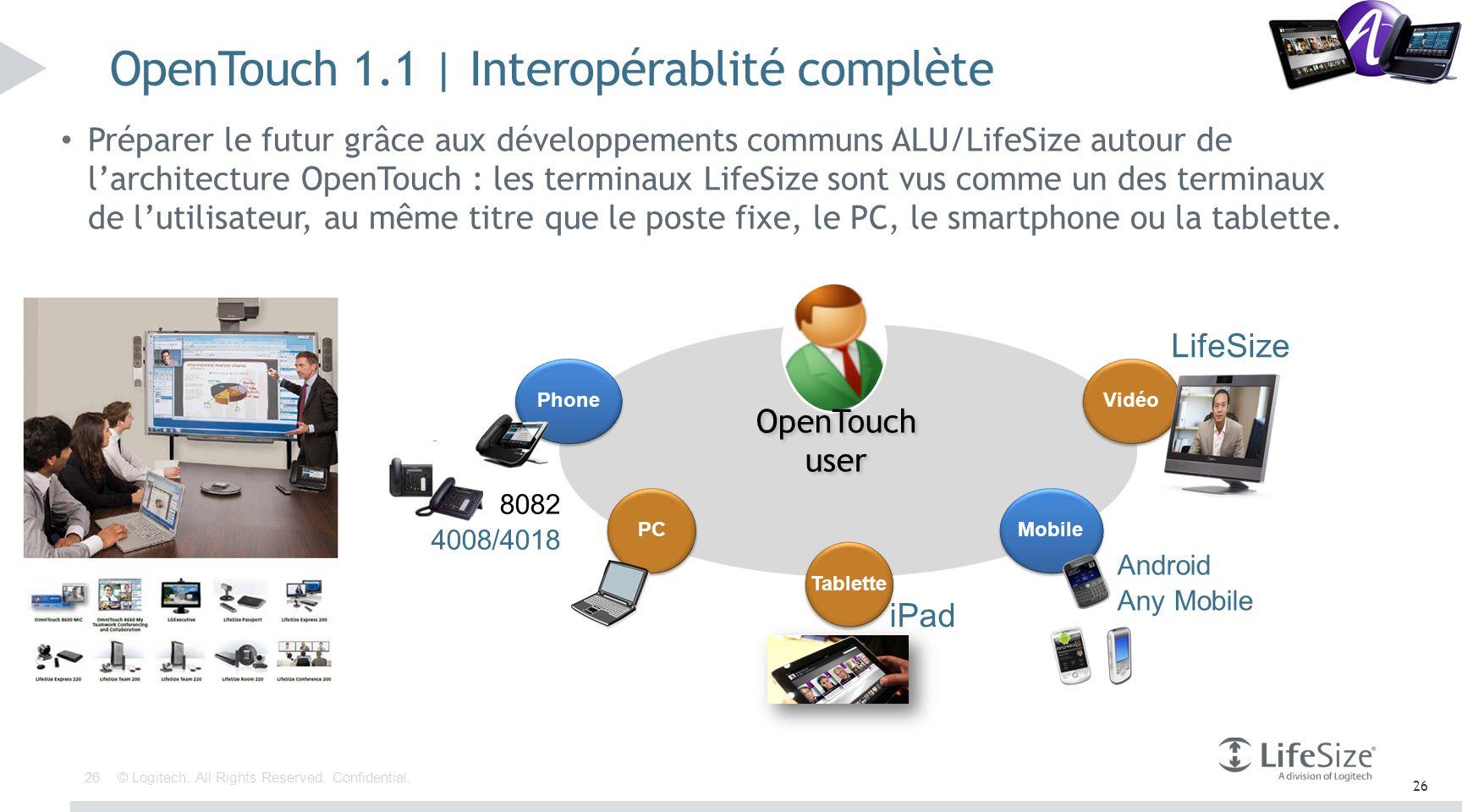 OpenTouch 1.1 | Interopérablité complète