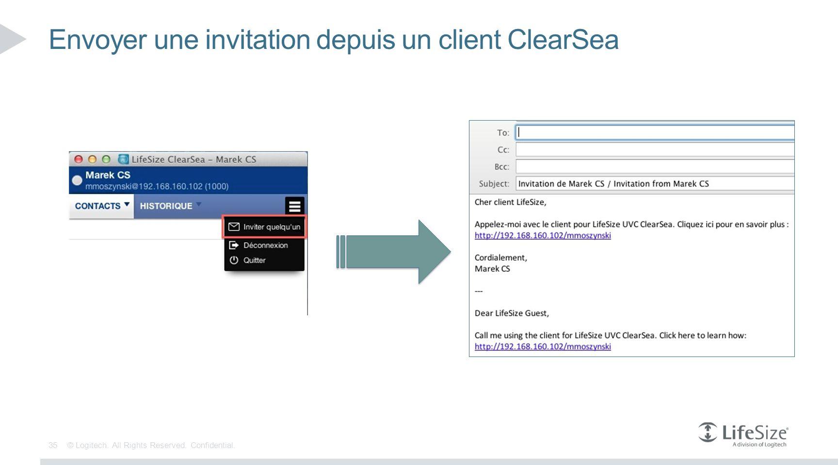 Envoyer une invitation depuis un client ClearSea