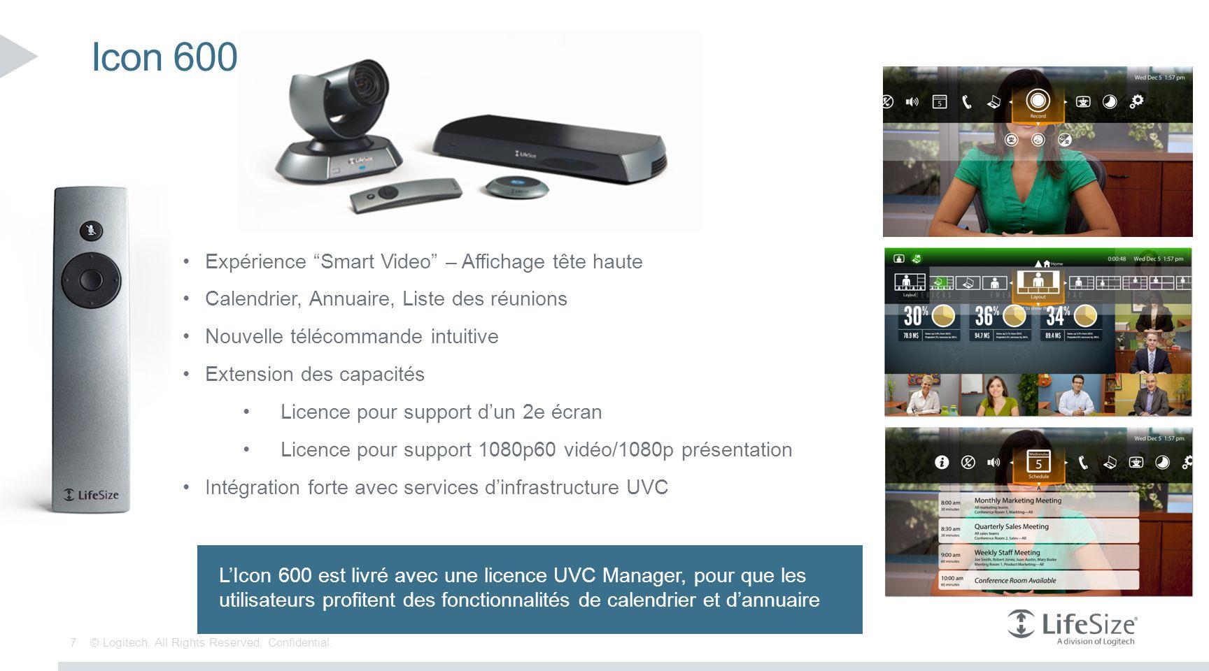 Icon 600 Expérience Smart Video – Affichage tête haute