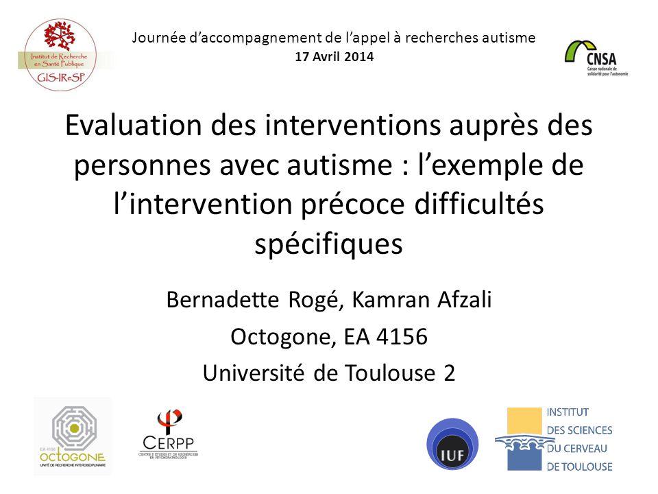 Journée d'accompagnement de l'appel à recherches autisme