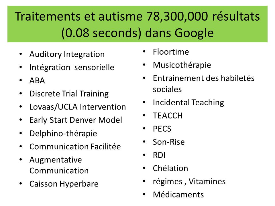 Traitements et autisme 78,300,000 résultats (0.08 seconds) dans Google