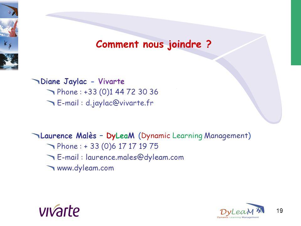 Comment nous joindre Diane Jaylac - Vivarte