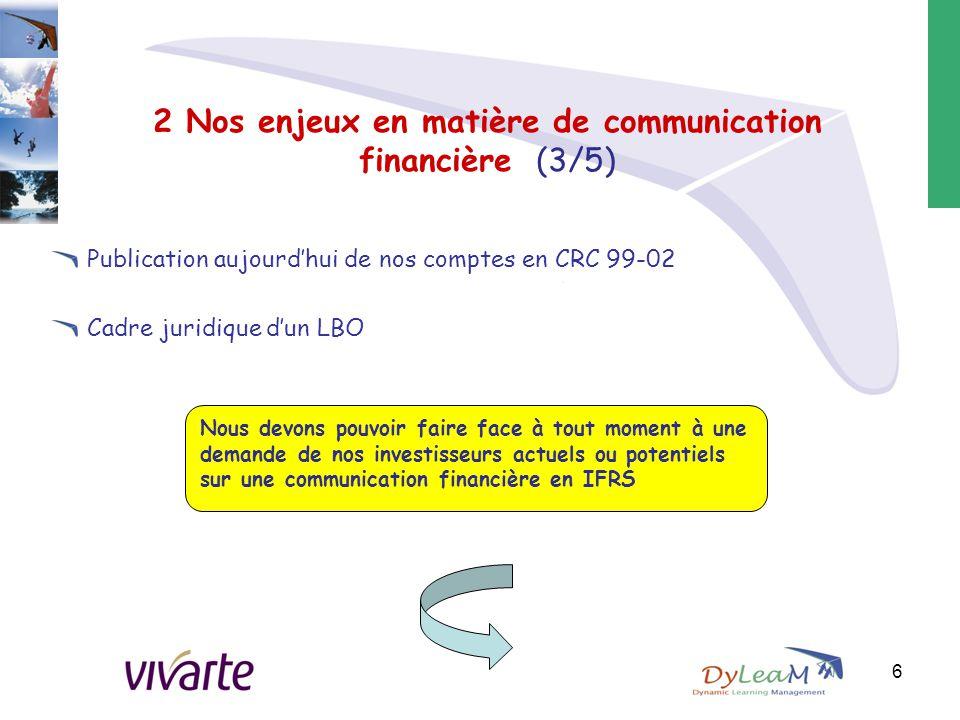 2 Nos enjeux en matière de communication financière (3/5)