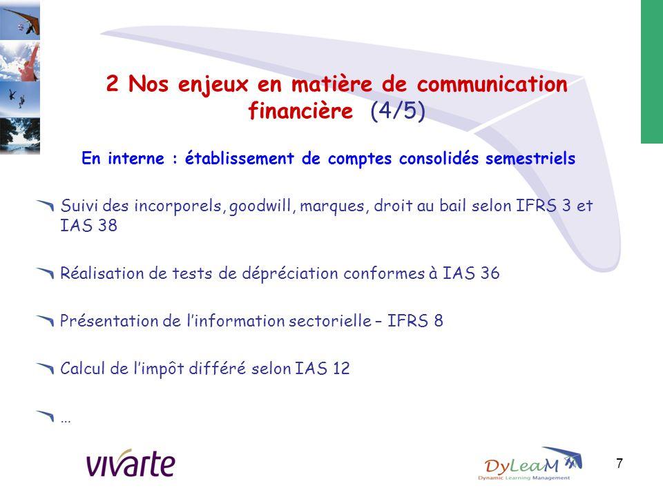 2 Nos enjeux en matière de communication financière (4/5)