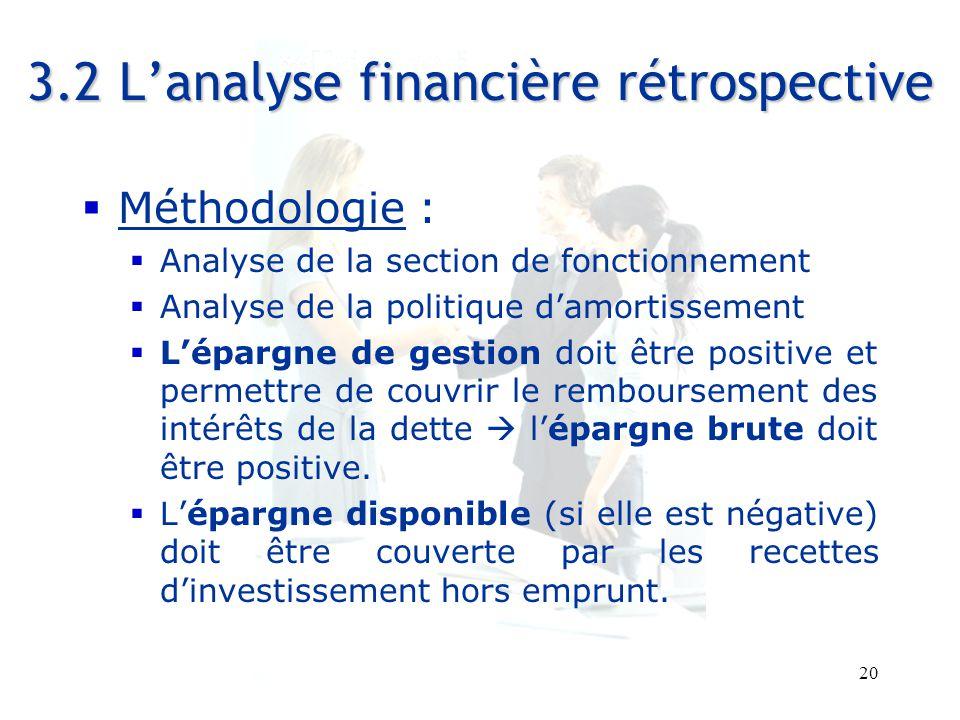 3.2 L'analyse financière rétrospective