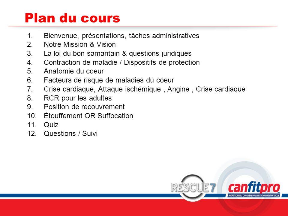 Plan du cours Bienvenue, présentations, tâches administratives