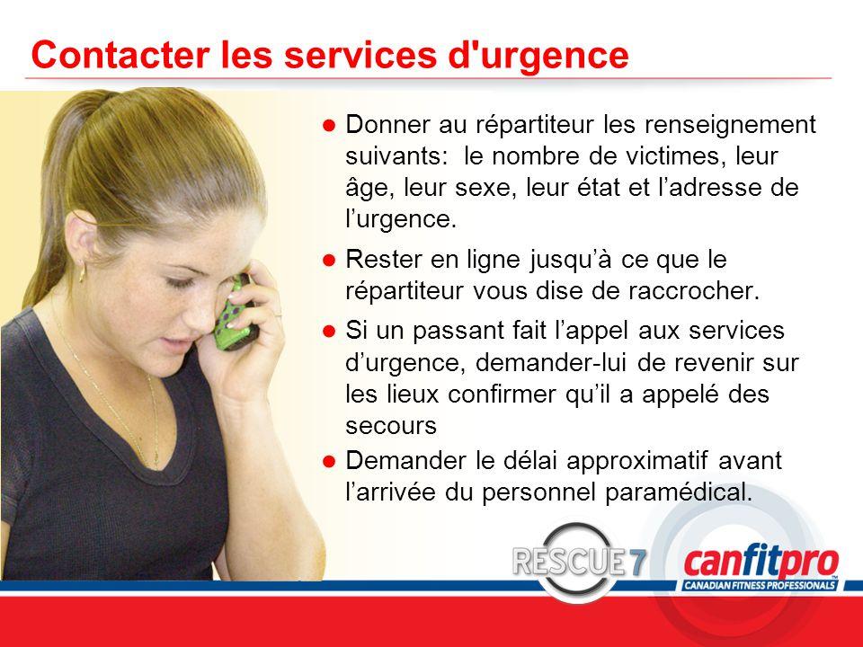 Contacter les services d urgence