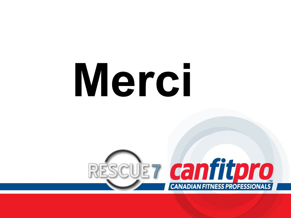 Merci Be sure to thank all participants for their time