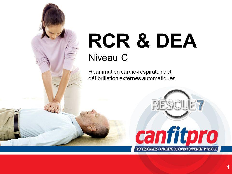 RCR & DEA Niveau C. Réanimation cardio-respiratoire et défibrillation externes automatiques. SLIDE NOTES: