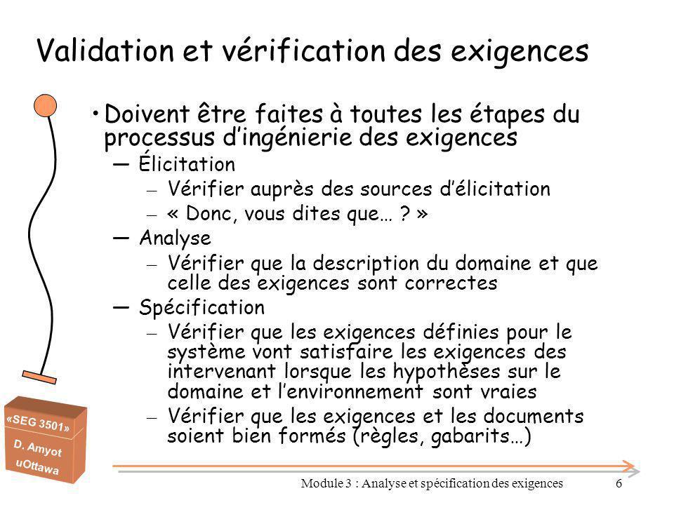 Validation et vérification des exigences