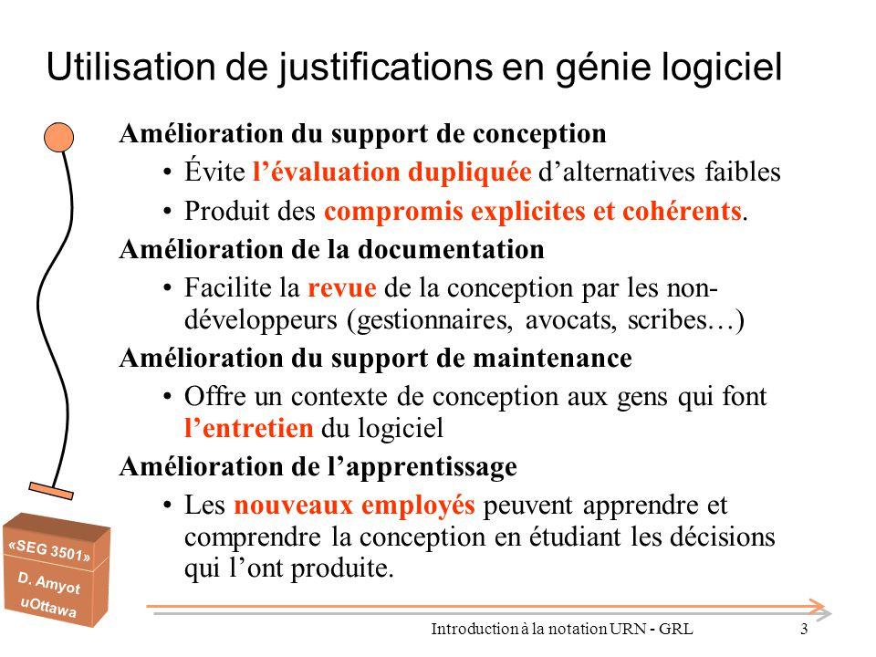 Utilisation de justifications en génie logiciel