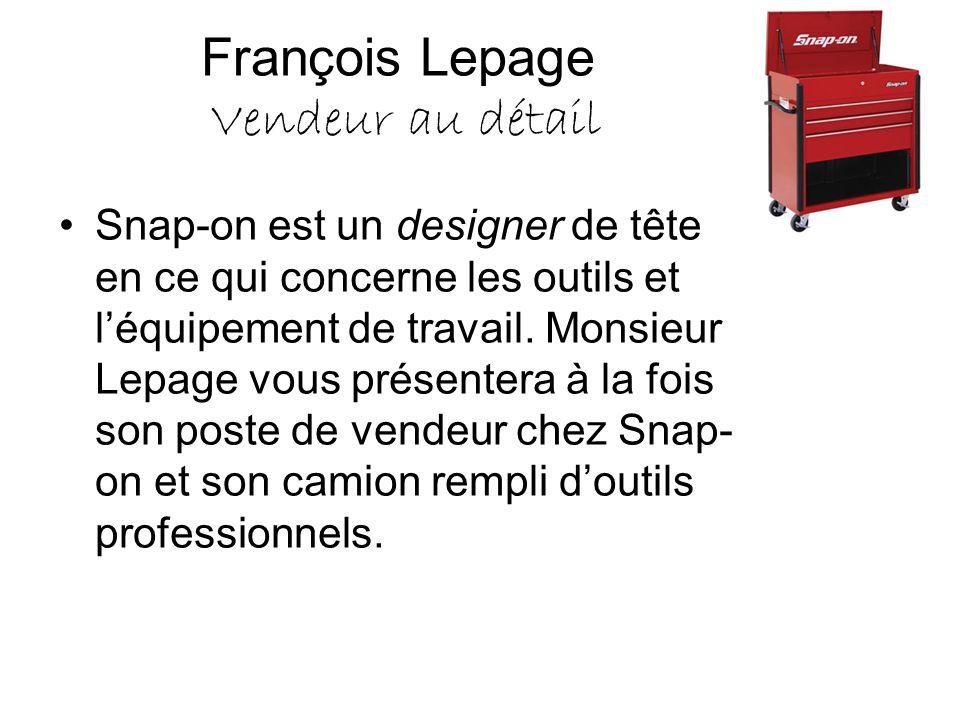 François Lepage Vendeur au détail