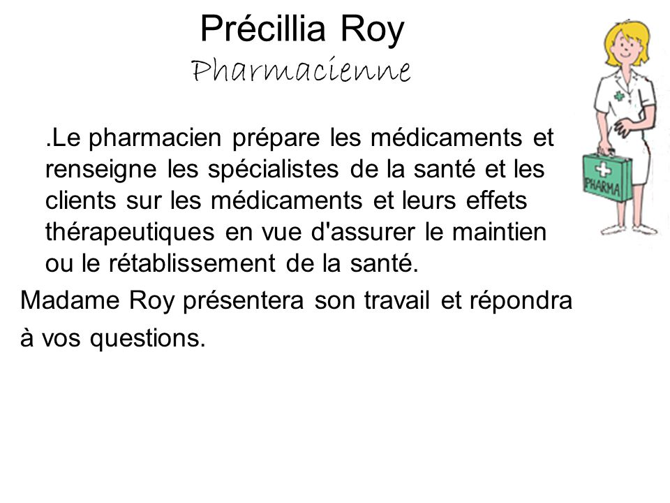 Précillia Roy Pharmacienne